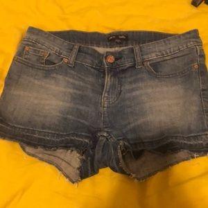 Gap denim shorts with fraying